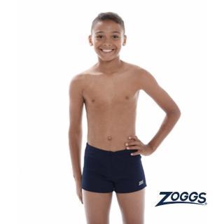 【Zoggs】少年基本款素色四角泳褲-藍 推薦  Zoggs