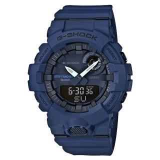 【CASIO 卡西歐】G-SHOCK 時尚雙顯男錶 樹脂錶帶 手機藍牙連線功能 防水200米(GBA-800-2A)真心推薦  CASIO 卡西歐