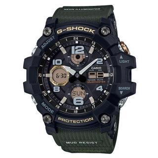 【CASIO 卡西歐】極限大陸雙顯男錶 樹脂錶帶 防塵防泥構造 太陽能電力(GSG-100-1A3)真心推薦  CASIO 卡西歐