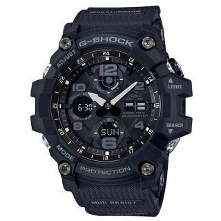 【CASIO 卡西歐】極限大陸雙顯男錶 樹脂錶帶 防塵防泥構造 太陽能電力(GSG-100-1A)  CASIO 卡西歐