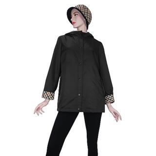 【DAKS】經典格紋外套內有可拆背心(黑色)強力推薦  DAKS