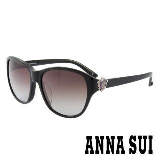 【ANNA SUI 安娜蘇】香氛花園皇室貴族風品牌徽章太陽眼鏡(黑- AS881M001)  ANNA SUI 安娜蘇