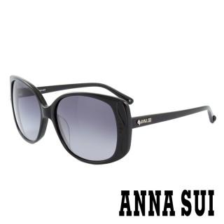 【ANNA SUI 安娜蘇】香氛花園獨特雙色波浪百變女仕款太陽眼鏡(黑 -AS891M001)  ANNA SUI 安娜蘇