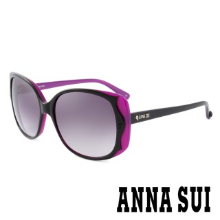 【ANNA SUI 安娜蘇】香氛花園獨特雙色波浪百變女仕款太陽眼鏡(紫 -AS891M007)  ANNA SUI 安娜蘇