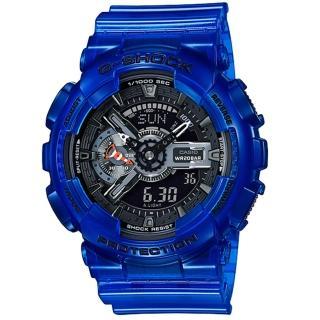 【CASIO 卡西歐】G-SHOCK 熱帶小丑魚主題運動錶-海水藍(GA-110CR-2A)  CASIO 卡西歐