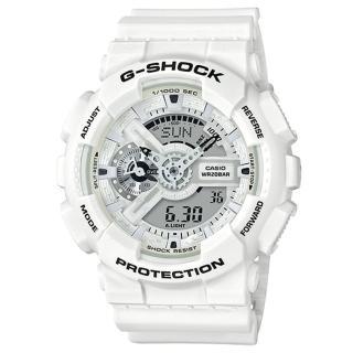 【CASIO 卡西歐】G-SHOCK 夏季白黑強悍運動錶(GA-110MW-7A)  CASIO 卡西歐