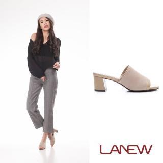 【La new】羊皮中跟拖鞋(女224080316)  La new