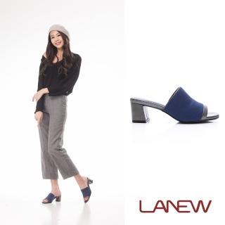 【La new】羊皮中跟拖鞋(女224080376)強力推薦  La new