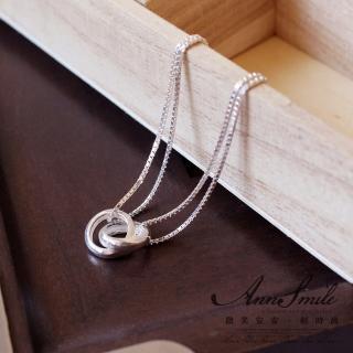 【微笑安安】雙套環925純銀細緻手鍊推薦折扣  微笑安安