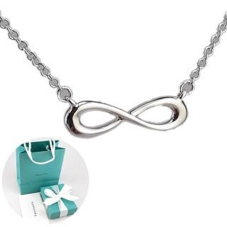 【Tiffany&Co. 蒂芙尼】Infinity迷你無限符號925純銀墜飾項鍊  Tiffany&Co. 蒂芙尼