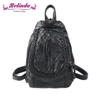 【Belinda】黑魔島水洗後背包-黑色  Belinda