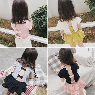 【小衣衫童裝】甜美可愛蝴蝶結露背短袖T恤(1070529)  小衣衫童裝