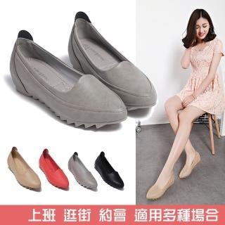【LN】都會時尚純色尖頭娃娃鞋(休閒鞋)強力推薦  LN