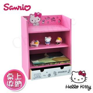 【Hello Kitty】Pinkholic凱蒂貓 美妝收納櫃 桌上收納 文具收納 飾品收納(正版授權台灣製)  Hello Kitty