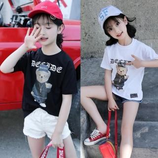 【小衣衫童裝】中大童嘻哈小熊印花短袖T恤(1070523)  小衣衫童裝