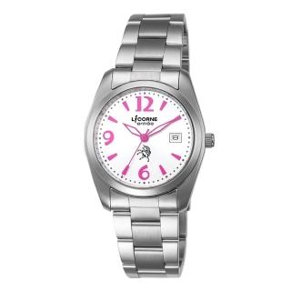 【LICORNE】力抗 恩萃 Entree 簡約時尚設計都市腕錶(白面/桃紅 LT083BWWA-P)  LICORNE
