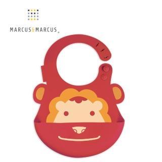 【MARCUS&MARCUS】動物樂園矽膠立體圍兜-獅子好評推薦  MARCUS&MARCUS
