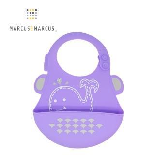 【MARCUS&MARCUS】動物樂園矽膠立體圍兜-鯨魚  MARCUS&MARCUS
