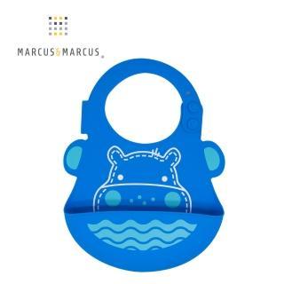 【MARCUS&MARCUS】動物樂園矽膠立體圍兜-河馬  MARCUS&MARCUS