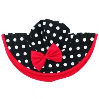 【美國 RuffleButts】嬰幼兒遮陽帽_復古圓點(RBVS001)  美國 RuffleButts