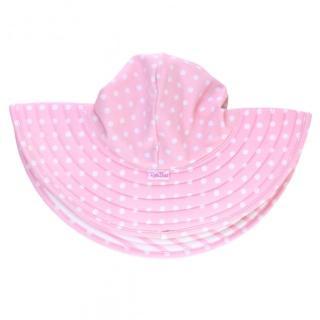 【美國 RuffleButts】嬰幼兒雙面配戴遮陽帽_粉色波爾卡(RBVS007)  美國 RuffleButts