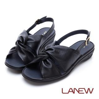 【La new】高曲折 低跟涼鞋(女224060536)好評推薦  La new