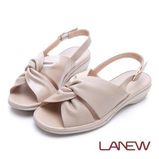 【La new】高曲折 低跟涼鞋(女224060516)好評推薦  La new