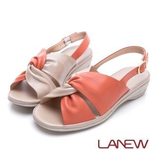 【La new】高曲折 低跟涼鞋(女224060556)強力推薦  La new