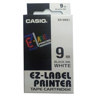 【CASIO 卡西歐】標籤機專用色帶-9mm白底黑字(XR-9WE1)  CASIO 卡西歐