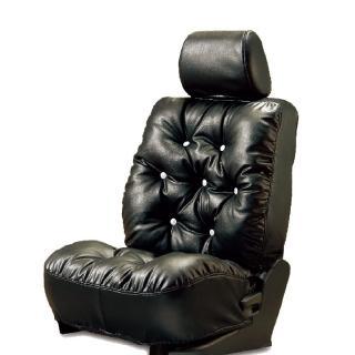 【葵花】量身訂做-汽車椅套-日式合成皮-舒適配色-A款(休旅車款第1排+第2排)  葵花