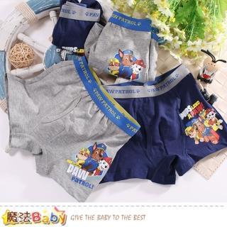 【魔法Baby】男童內褲 2件一組 汪汪隊立大功正版純棉四角內褲(k50850)  魔法Baby