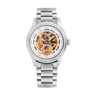 【Flungo佛朗明哥】獨立小秒鏤空機械錶鋼帶款  Flungo佛朗明哥
