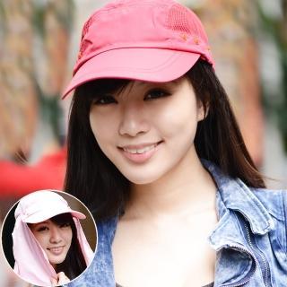 【Seoul Show首爾秀】多功能可拆式快乾護頸抗UV遮陽帽棒球帽(防曬遮陽)  Seoul Show首爾秀