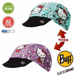 【BUFF】KITTY 學英文COOLMAX 兒童雙面遮陽帽 推薦  BUFF