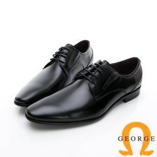 【GEORGE 喬治皮鞋】商務系列 綁帶經典素面紳士皮鞋-黑好評推薦  GEORGE 喬治皮鞋