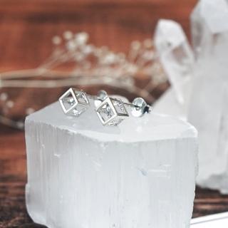 【ART64】耳環 極簡小回 方框 925純銀耳環真心推薦  ART64