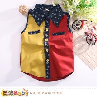 【魔法Baby】男童裝 夏季無袖襯衫(k50814)  魔法Baby