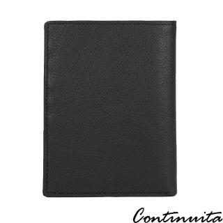 【Continuita 康緹尼】頭層牛皮超手感行動護照夾(黑)  Continuita 康緹尼