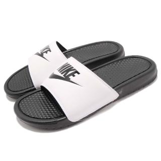 【NIKE 耐吉】涼拖鞋 Benassi JDI 男鞋 女鞋 輕量 透氣 舒適 休閒 白 黑(343880-100) 推薦  NIKE 耐吉