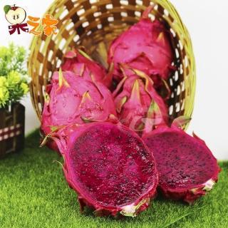 【果之家】產地直送鮮甜甘美紅肉火龍果3台斤(約4-6顆入)  果之家