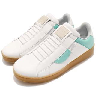 【ROYAL Elastics】休閒鞋 Icon 復古 低筒 男鞋 皮革 膠底 彈力帶 懶人鞋 球鞋 白 綠(02983040)  ROYAL Elastics