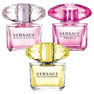 【VERSACE 凡賽斯】香戀水晶+香愛黃鑽+絕對‧香戀水晶(5ml 3入組)真心推薦  VERSACE 凡賽斯