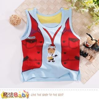 【魔法Baby】嬰幼兒背心 夏季清涼背心上衣(k50842)  魔法Baby