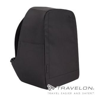 【Travelon】URBAN經典素面風格RFID防盜防割鋼網輕旅行背包(TL-43311-18黑/出國旅遊/都會商務/流行包款)強力推薦  Travelon