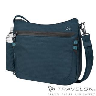 【Travelon】防割鋼網ACTIVE中斜背包/側肩包(TL-43128-18藍/都會休閒旅行輕便包款)推薦折扣  Travelon