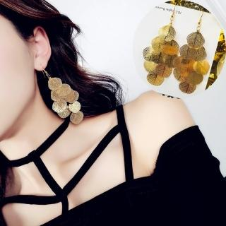【梨花HaNA】細緻秋葉金屬葉片垂飾耳環金色  梨花HaNA
