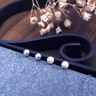 【ART64】簡約銀珠豆豆 4mm 925純銀耳環 2款可選-光亮/霧砂推薦折扣  ART64