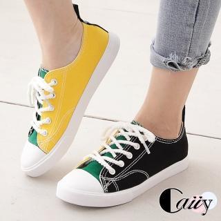 【Caiiy】帆布鞋.經典平底綁帶休閒鞋預購C155-1好評推薦  Caiiy
