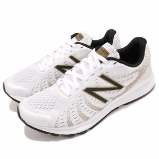 【NEW BALANCE】慢跑鞋 WRUSHSW3 D 寬楦 女鞋 紐巴倫 路跑 輕量 透氣 避震 舒適 白 金(WRUSHSW3D)  NEW BALANCE