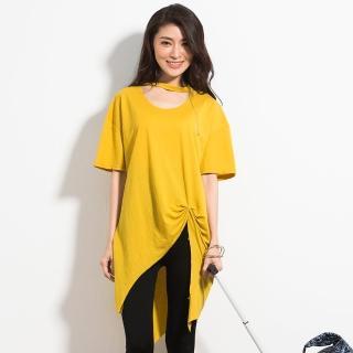 【MsMore】韓系率性珠光不規則設計金屬鍊飾上衣102017(5色)真心推薦  MsMore